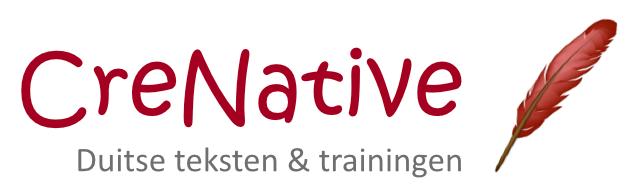 Duitse teksten en trainingen van creNative